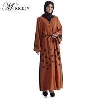MISSJOY Qatar Arab Dress Abaya Turkey Middle East moslim jurken Fashion Cardigan Set Embroidered Muslims Robes Ramadan headscarf