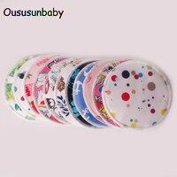 Oususunbaby 24pcs/lot Reusable Bamboo Breast Pads Organic Bamboo Breast Pad Nursing Pads Waterproof Washable Feeding Pad For Mum