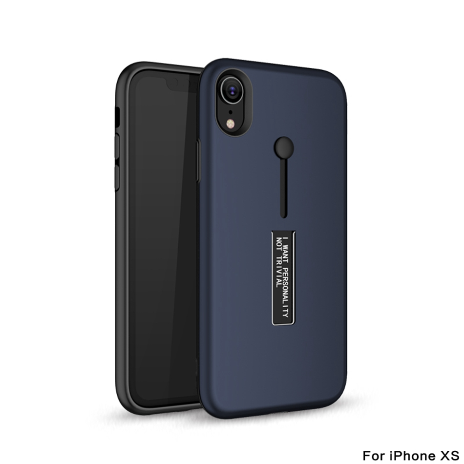 half off 3a745 29144 Kickstand Iphone XS Max Case Finger Loop Strap Cover For Iphone XR XS X  Armor Shockproof Back Phone Case