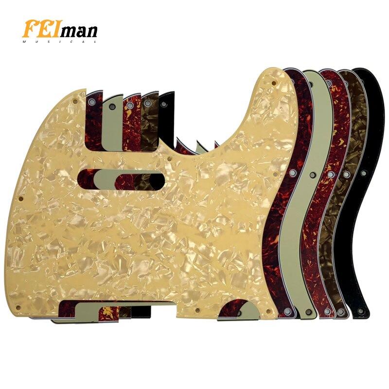 Accesorios de guitarra Pleroo para Pickguards estándar americano 8 agujeros de tornillo 62 años Telecaster guitarra Placa de rasguño
