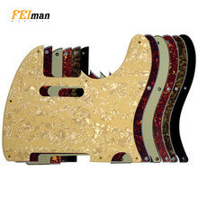 Pleroo capturas de guitarra, acessórios para guitarra americana padrão, 8 parafusos, 62 anos, telecaster, placa de arranhões