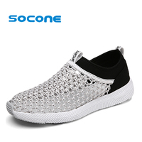 Socone Men S Sneaker Shoes Summer Slip On Mesh Breathable Flats Walking Shoes Zapatillas Deportivas Mujer
