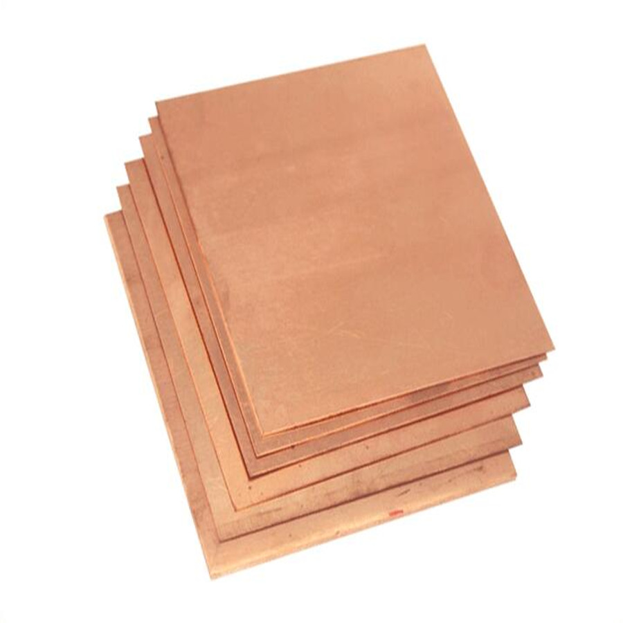 1pc Copper Sheet Plate Guillotine Cut Metal Copper Sheet