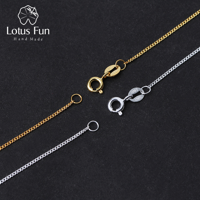 Lotus Fun Real 925 Sterling Silver Handmade Fine Jewelry Classic Easy Match Necklace Chain without Pendant for Women Collier -in Necklaces from Jewelry & Accessories on Aliexpress.com | Alibaba Group