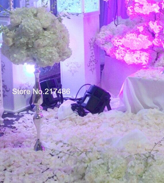 Sliver Mental Reversible Trumpet Vase Wedding Trumpet Vase In Glow