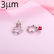 3UM Earring Accessory Pendants Findings Hoop Opal Silver Pendant Red