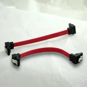 Image 1 - 5pcs/lot   New 10cm Dual 90 Degree Angle 7Pin 7P SATA Serial ATA Short DATA Cable