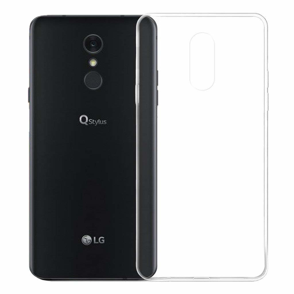 For LG Q Stylus Case Slim Clear Transparent Soft TPU Silicone Ultra Thin Rubber Mobile Phone Protective Skin Shell