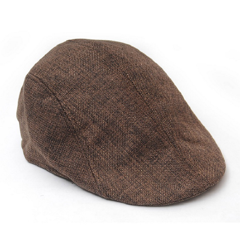 Hot New Beret Chrismas Gifts Winter Mens Beret Baker Boy Peaked ... 40959e15be69
