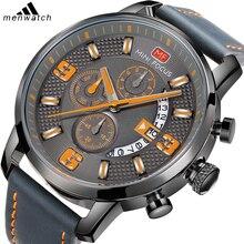 Модные мужские военные спортивные часы 30 м водонепроницаемый мягкий кожаный ремешок для путешествий на открытом воздухе мужские наручные часы