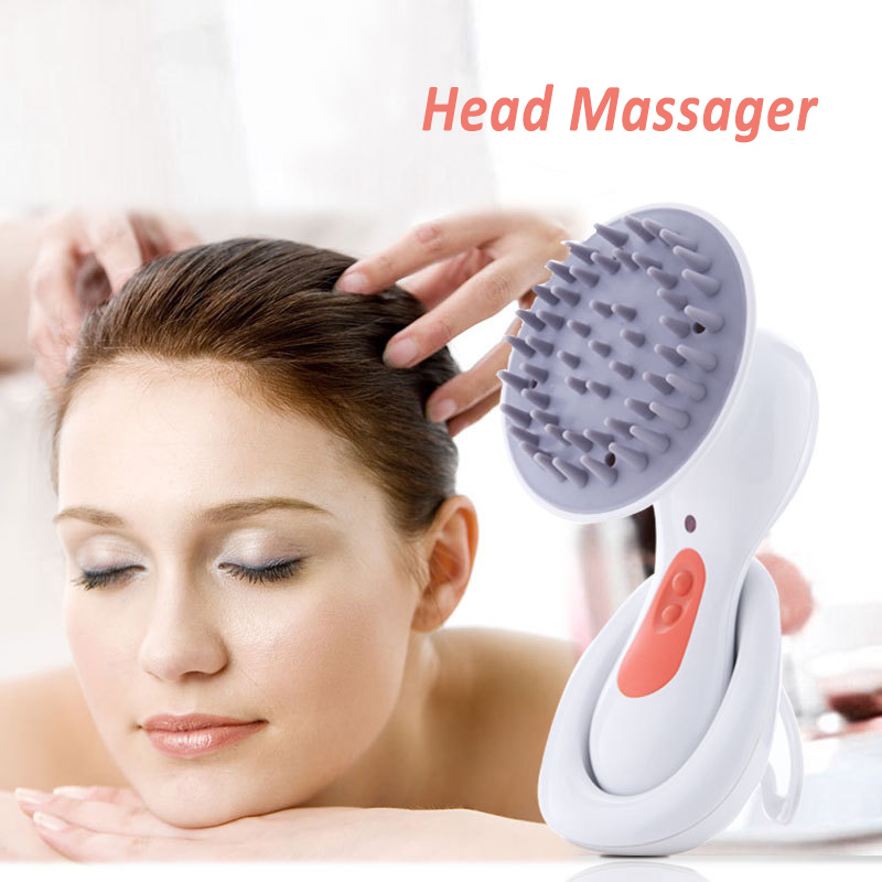Electric Scalp Massager Soft Silicone Head Massage Comb USB Rechargeable Waterproof Shampoo Cleansing Brush Health Care Tool