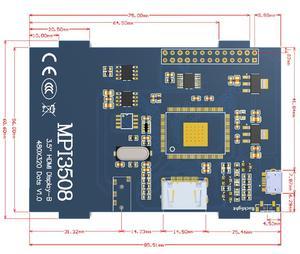 Image 5 - Raspberry pi 3.5 polegada hdmi lcd touchscreen 3.5 polegada display 60 fps 1920*1080 ips tela de toque para raspberry pi 2 modelo b & rpi b