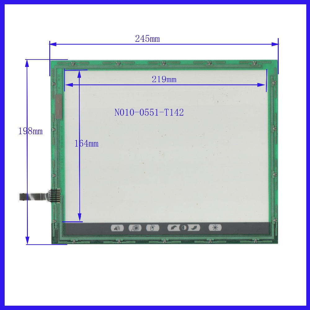 POST  Touch Screen 245*198   industry applications N010-0551-T142   FOR Fujitsu n010 0551 t248