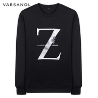 Varsanol Brand Clothing Long Sleeve Casual Sweatshirt Mens Slim Coat O Neck Outerwear Printed Pullovers Tops