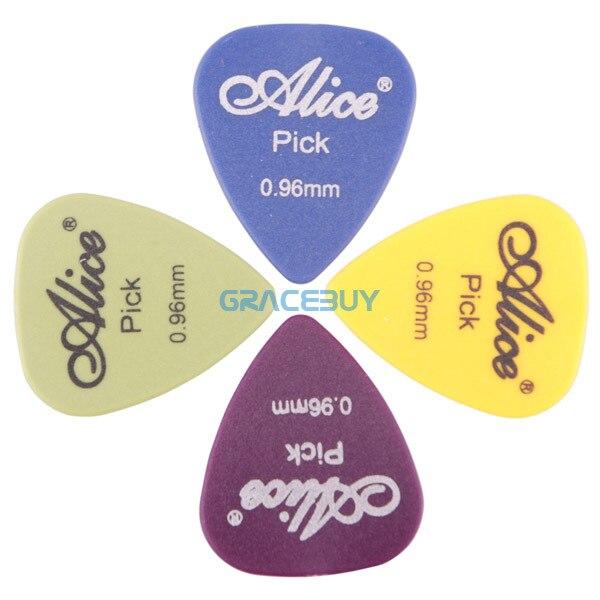 Купить с кэшбэком 100pcs Alice Single/ Multi Thickness Guitar Picks Plectrum Assorted Colors Guitarra Puas Palheta Musical Instrument 28