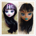 Kids Toy Demon Monster Doll Head with Wig Hair DIY Accessories For Monster High Doll For 1/6 BJD Doll House