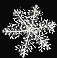 3pcs / lot Christmas snowflake tree ornaments windows patch Toys