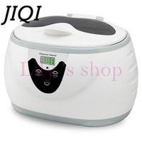 JIQI Digital Ultrasonic Cleaner Jewelry Watch Glasses Wash Bath dental Toothbrushes Ultrasonic Cleaning Machine 0.6L 110V 220V