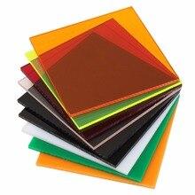 100x100x2,8 мм прозрачные акриловые(ПММА) листы из оргстекла тонированные/плексигласовая пластина/акриловая пластина черный/белый/красный/зеленый/оранжевый
