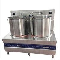 Duplo cabeça fogão de sopa elétrica fogão de indução de alta potência de aço inoxidável de poupança de energia com fogão de sopa de fundo engrossado|electric stove|stove electricstoves electric cooker -