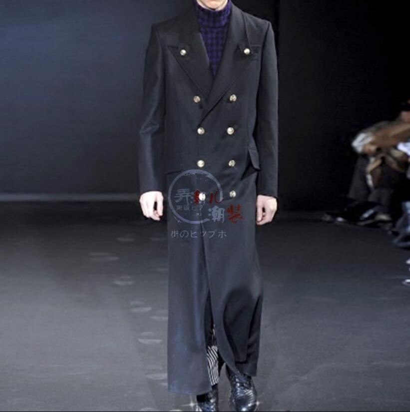 Для мужчин модные выше колена шерстяные пальто ветровка мужской супер длинные толстые шерстяные зимние Молодежные Классическая пиджаки!