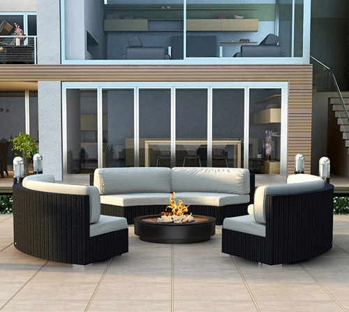 Factory direct sale outdoor living furniture wicker lounge sets sofas and loveseats