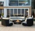 2017 Fábrica de venta directa de muebles de juegos de salón de mimbre al aire libre sofás y sillones