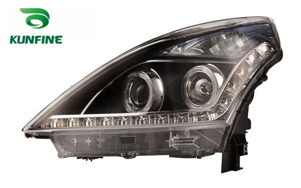 Pair of Car Headlight Assembly For NISSAN TEANA 2006 11 Tuning Lamp with Angel eyes Bi