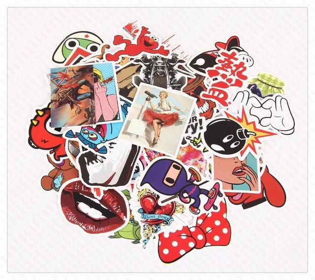Pcs Cool Stickers Skateboard Vintage Vinyl Sticker Laptop - Vinyl stickers for laptops