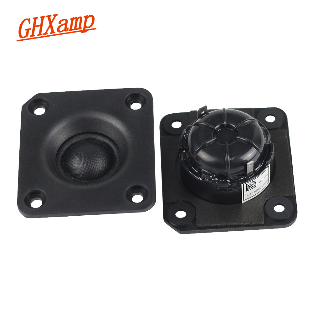 Ghxapm 2pcs 1 inch tweeter speaker unit 4 ohm 25w fever neodymium silk membrane treble high