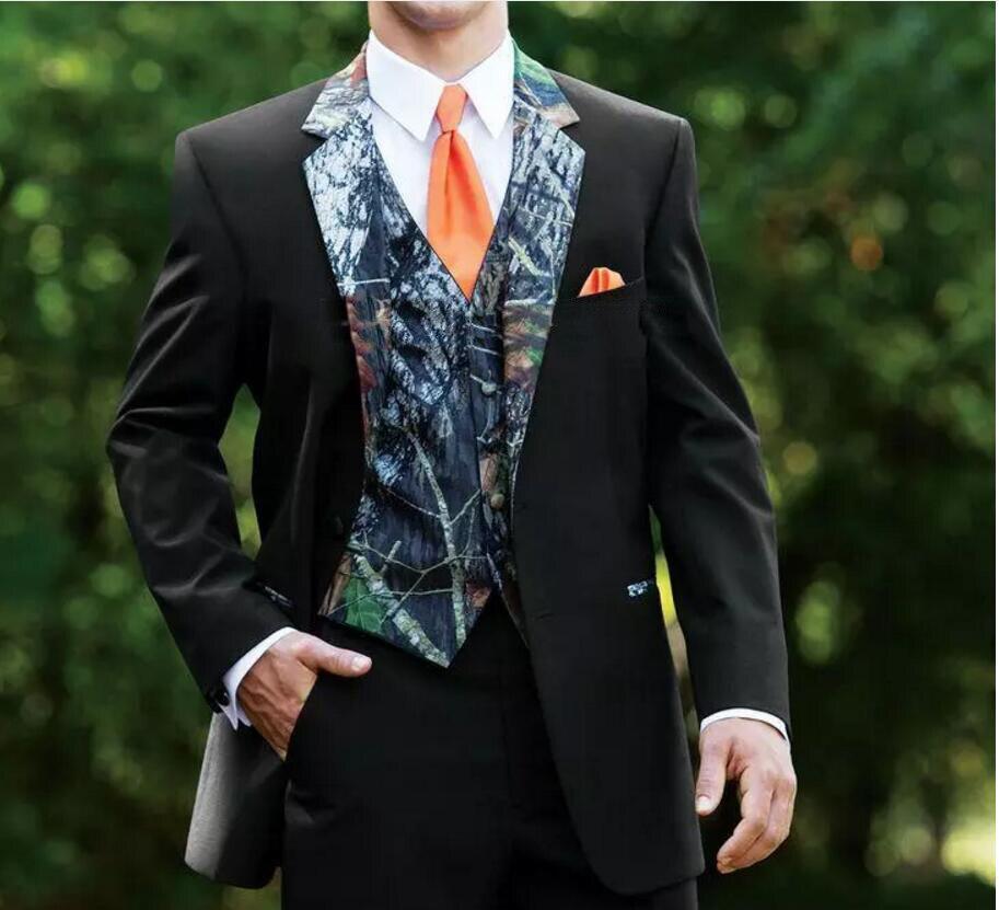 Rustic Wedding Men Suits One Button Camo Mens Wedding Suits ...