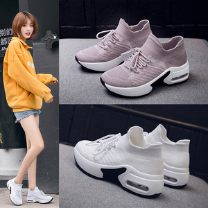 Image 5 - STQ 2020 Autumn Women Flats Sneakers Height Increasing Women Sneakers Shoes Chaussures Femme Creepers Mocassins Shoes 20209