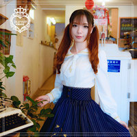 Princess Sweet Lolita Brocade Garden Long Sleeved White Embroidered Blouse ZJY064