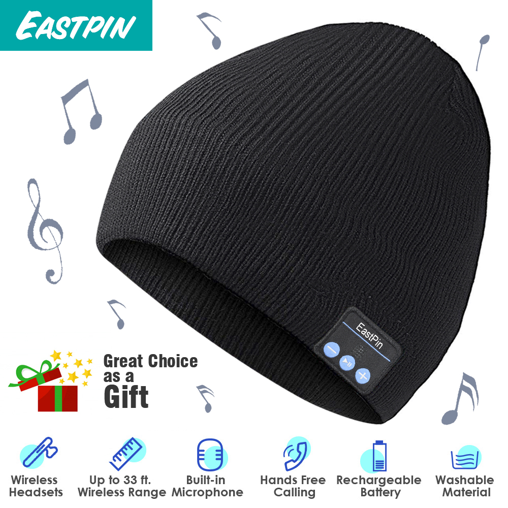 Wireless Bluetooth font b Beanie b font Winter Hat Removable Headphones Washable Fits Outdoor Sports Skiing