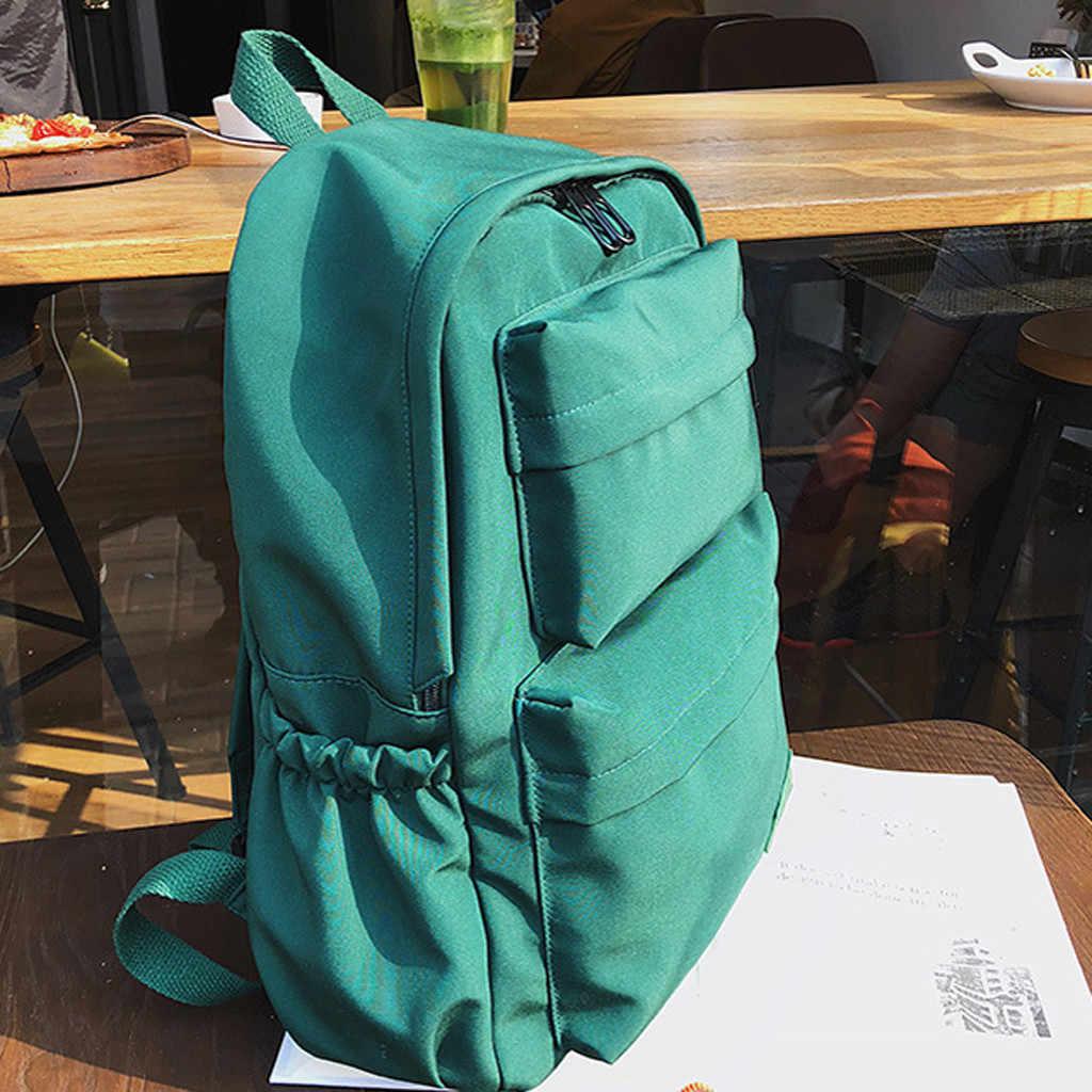 新防水ナイロンバックパック女性のマルチポケット旅行バックパックオックスフォード野生固体女性代の少女 G3085