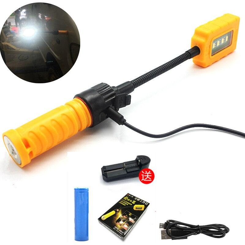 High Brightness With Magnet LED Car Repair Light Emergency Repair Light USB / 18650 Battery Table Lamp for Maintenance Car Tools
