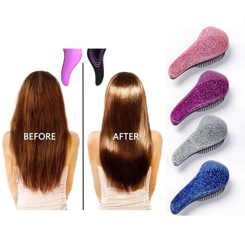 Mini mango mágico peine Anti-estático cepillo de pelo enredo detange ducha masaje cepillo de pelo peine salón belleza estilismo herramientas regalo