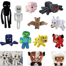 Minecraft Plush Toys 13 Styles Soft Stuffed Animal Doll Kids Game Cartoon Toy Brinquedos Zombie Enderman Gift for Child All Size(China)