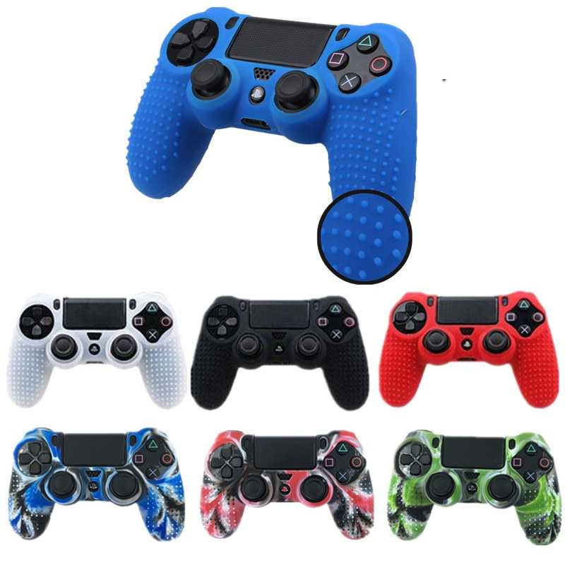 1 Pcs Anti-Slip Silicone Cover Kulit Case untuk Sony PlayStation DualShock 4 PS4 DS4 Pro Slim Controller & stick Grip Pelindung