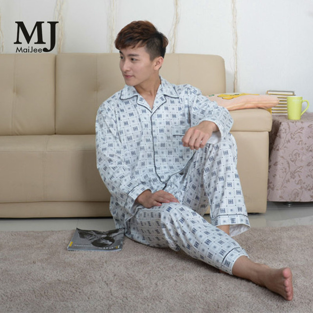 7ddea3e294 MaiJee 3xl Two Piece Set Pyjamas Men Plus Size Pijama Hombre Erkek Pijama  Masculino Pijama Hombre