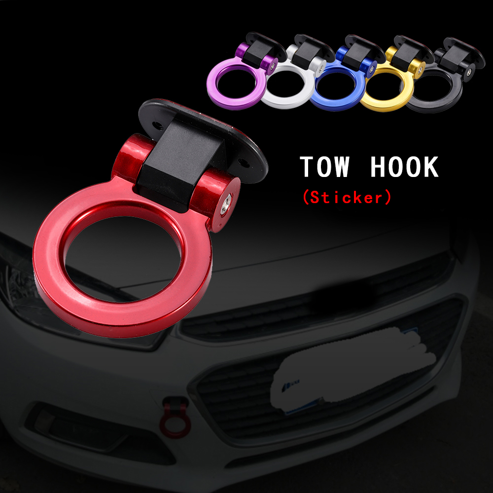 HTB1215fbFYqK1RjSZLeq6zXppXaB - R-EP Universal Car ABS Towing Tuning Bumper Sticker Dummy Tow Hooks for Car-styling