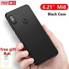 Matte case for Xiaomi Mi 8 Case Cover Silicone Black Soft Mofi Original Back Fundas Protective mi8