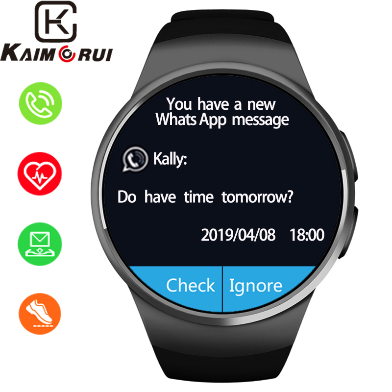 Smart Watch Men IP67 Waterproof Bluetooth Music Heart Rate Monitor Smart Tracker SIM TF Card for IOS Android Watch Phone