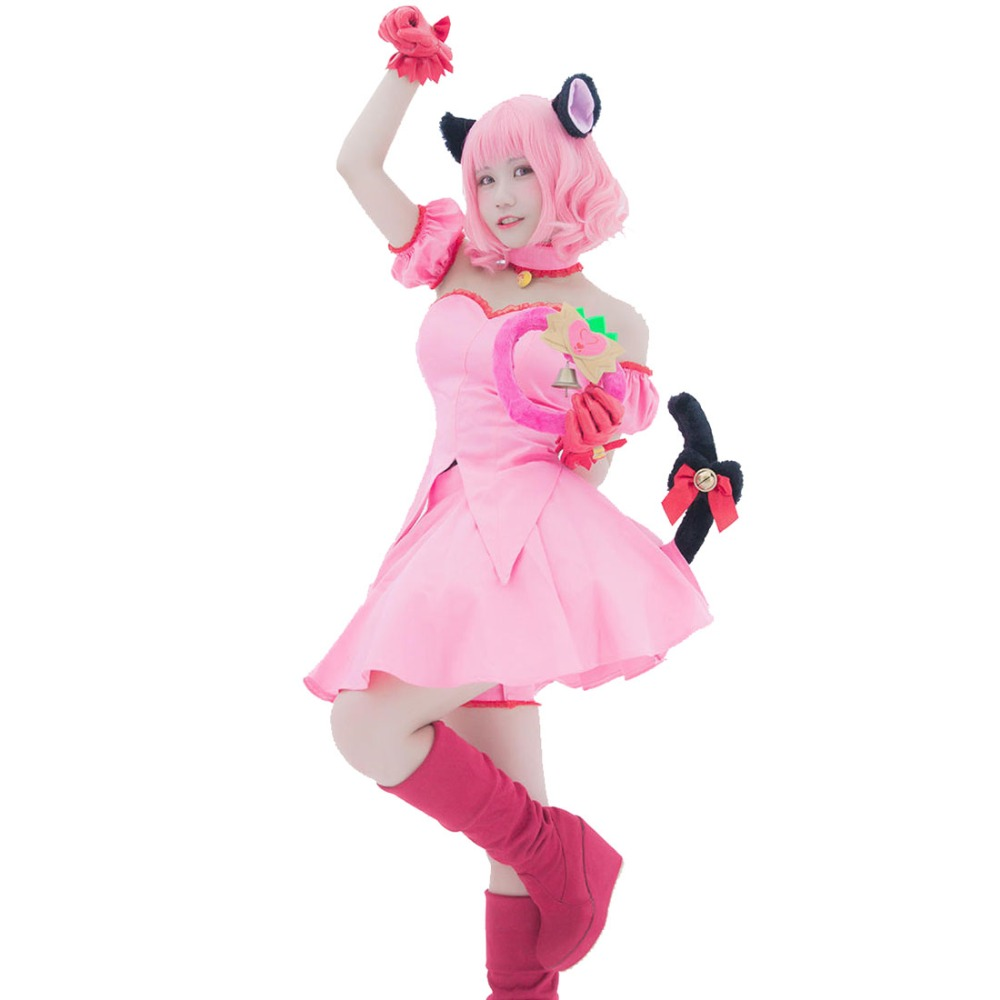 2018 Tokyo Mew Mew Ichigo (Transfiguration) Momomiya Cosplay Costume Custom Made