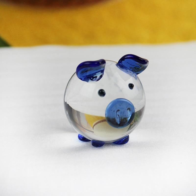 K9 Kristall Schwein Figuren Miniaturen Glas Tier Miniatur Haus - Wohnkultur - Foto 3