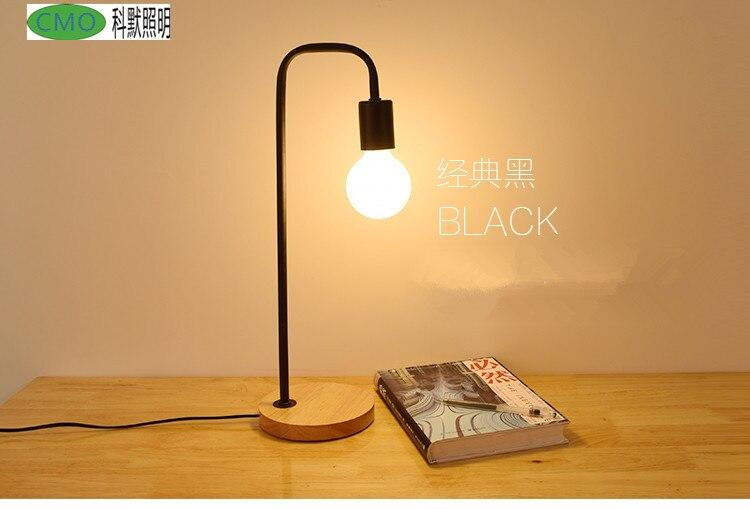 Loft vintage lampe de bureau avec couleurs traditionnelle