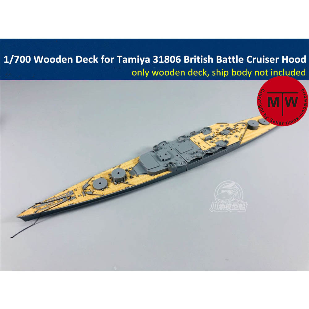 <font><b>1</b></font>/<font><b>700</b></font> <font><b>Scale</b></font> Wooden Deck for Tamiya 31806 British Battle Cruiser Hood <font><b>Ship</b></font> <font><b>Model</b></font> TMW00020 image