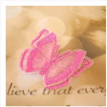 Color double lace transparent butterfly  h cloth jeans cloth paste Europe root decoration patch decals