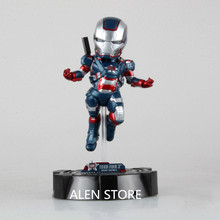 Alen ограниченное 23 см атаки Железный человек Патриот свет Симпатичные Super Hero Мстители ПВХ фигурку Коллекция Модель игрушки