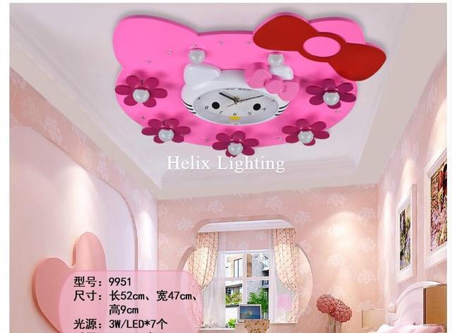 Slaapkamer Lamp Roze : Gratis verzending mooie roze kinderen plafond lampen kids